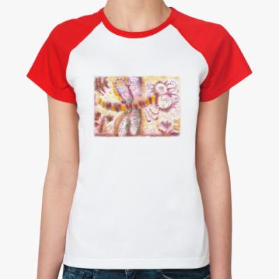 Женская футболка реглан Стрекоза из м/ф Винни-Пух