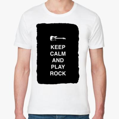 Футболка из органик-хлопка Keep calm and play rock
