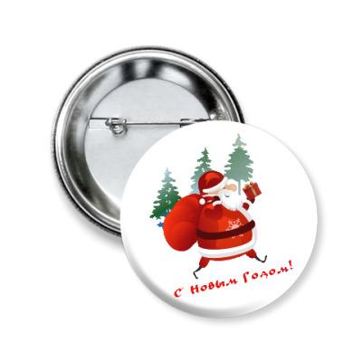 Значок 50мм Дед Moroz