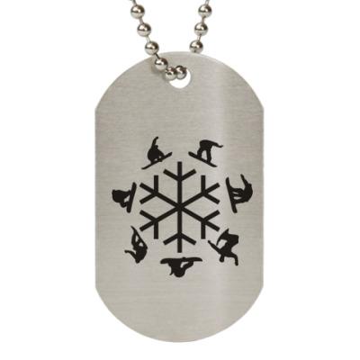 Жетон dog-tag snowboard