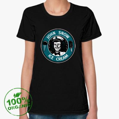 Женская футболка из органик-хлопка Джон Сноу - Мороженое