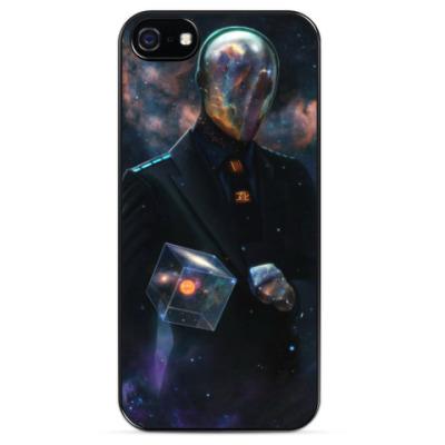 Чехол для iPhone Космос, звезды, туманность, человек
