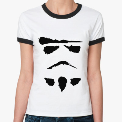 Женская футболка Ringer-T минималистичный штурмовик