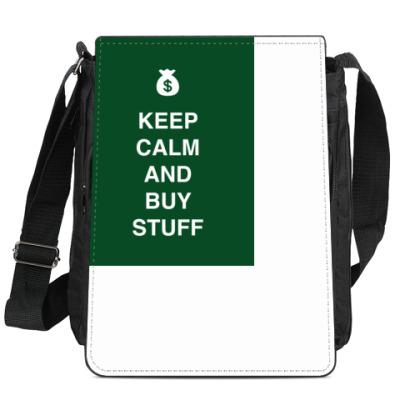 Сумка-планшет Keep calm and buy stuff