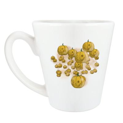 Чашка Латте Весёлый хэллоуин