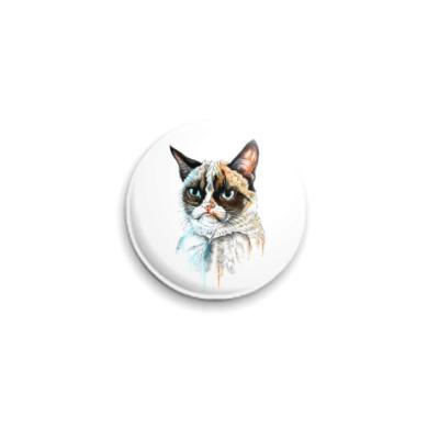 Значок 25мм Грустный кот
