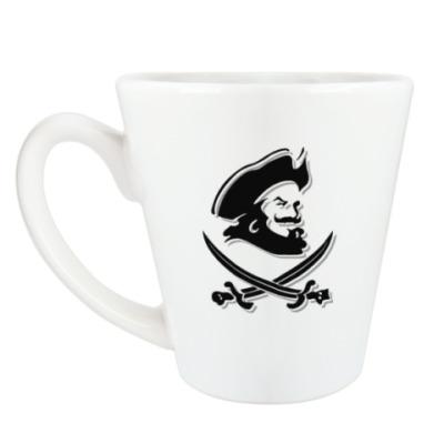 Чашка Латте Капитан Пират