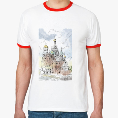 Футболка Ringer-T Собор Спас-на-Крови. Питер
