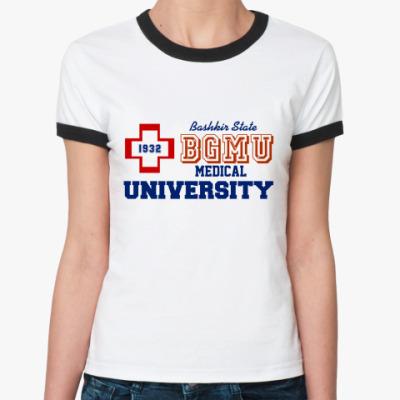 Женская футболка Ringer-T БГМУ