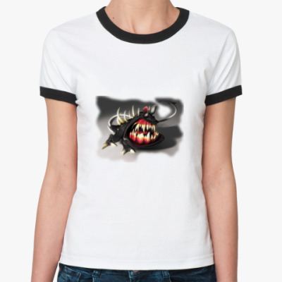 Женская футболка Ringer-T монстр