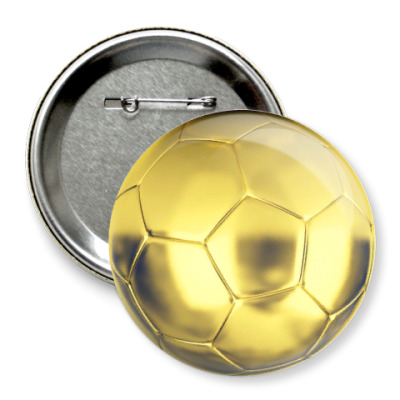 Значок 75мм Золотой мяч