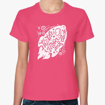 Женская футболка ракета