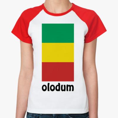 Женская футболка реглан 'OLODUM'