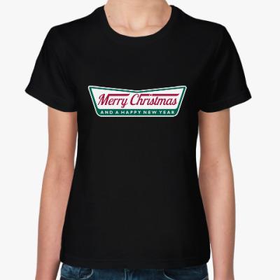 Женская футболка Счастливого Нового года