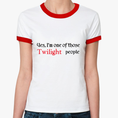 Женская футболка Ringer-T  Twilight people