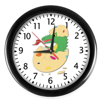 Настенные часы 'Дракоша в яйце'