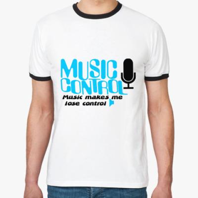Футболка Ringer-T  Music control