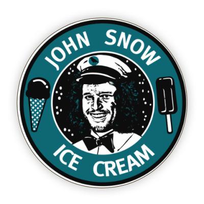 Костер (подставка под кружку) Джон Сноу - Мороженое