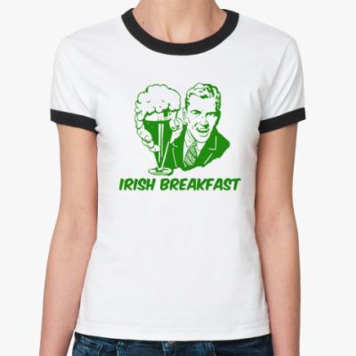 Женская футболка Ringer-T Футболка Ringer-T женская (бел/чёрн)