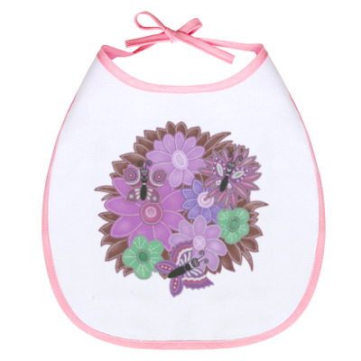 Слюнявчик Бабочки, цветочки