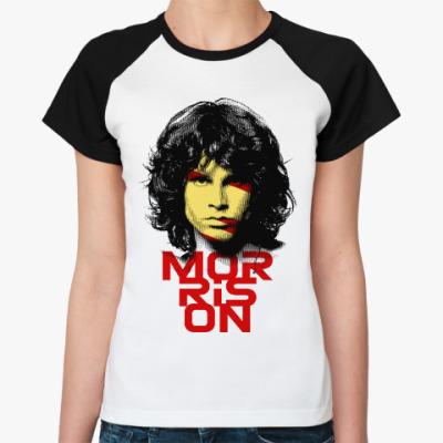 Женская футболка реглан Джим Моррисон