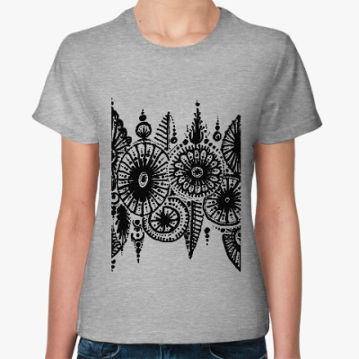 Женская футболка Ноябрьский лес