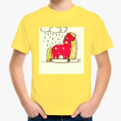 Детская футболка Купание красной коняшки