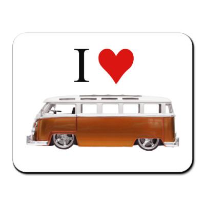Коврик для мыши I Love Bus