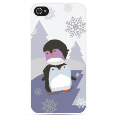 Чехол для iPhone Два пингвина