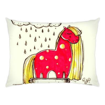 Подушка Купание красной коняшки