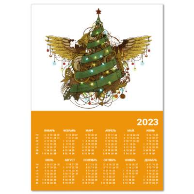 Календарь Стимпанк ёлочка
