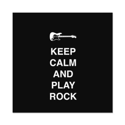 Наклейка (стикер) Keep calm and play rock