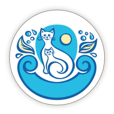 Костер (подставка под кружку) Котейки-улыбаки