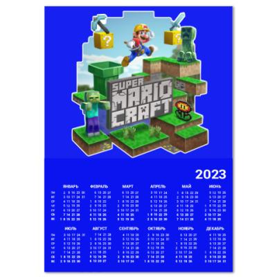 Календарь Super Mario Craft
