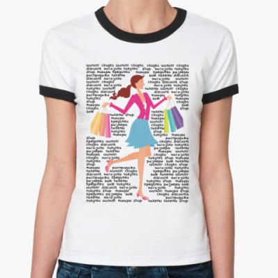 Женская футболка Ringer-T Покупки