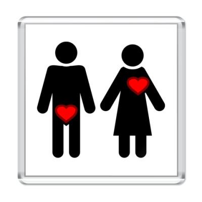 Магнит Мужчина и женщина