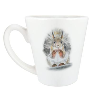 Чашка Латте Белочка!
