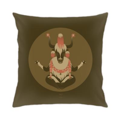 Подушка Animal Zen: Y is for tibet Yak