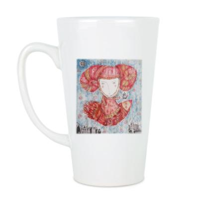 Чашка Латте Принцесса летит на чаепитие