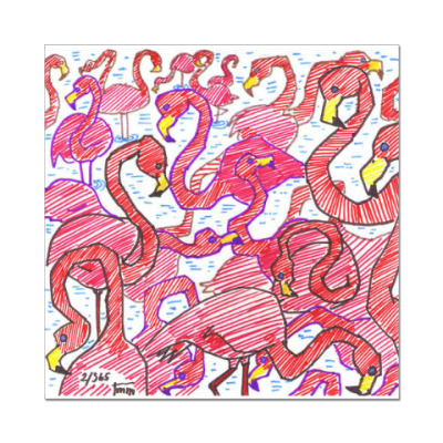 Наклейка (стикер) Фламинго
