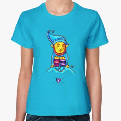 Женская футболка Гном