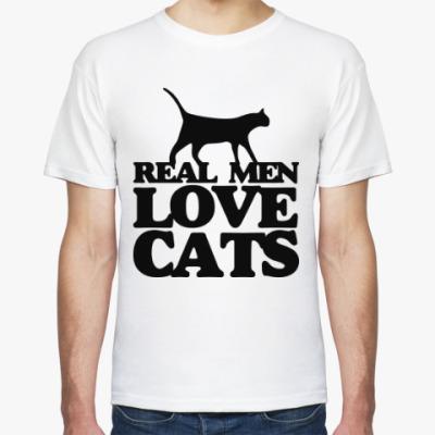 Футболка Мужчины любят кошек