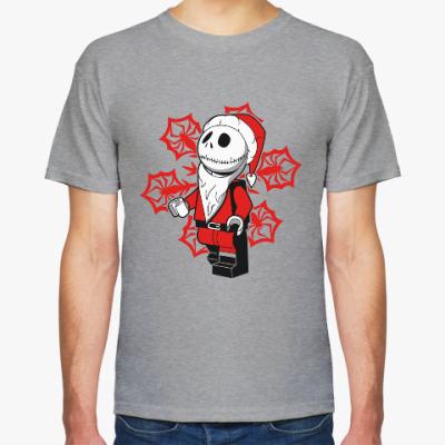 Футболка Санта скелет