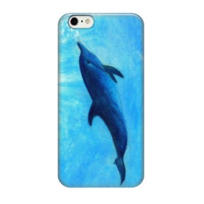 Чехол для iPhone 6/6s Акварель - Дельфинчик