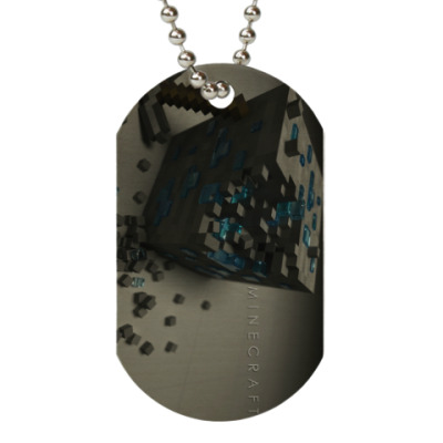 Жетон dog-tag Minecraft Diamond Block