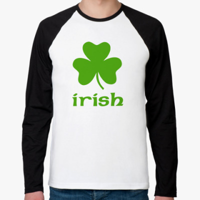 Футболка реглан с длинным рукавом Irish