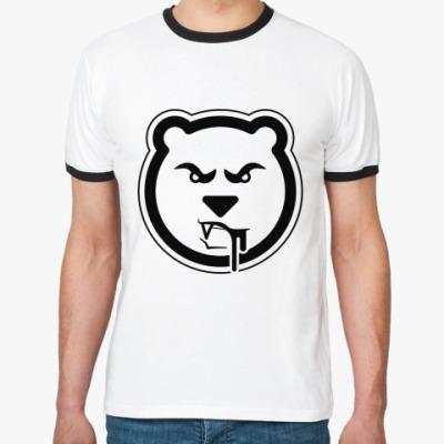 Футболка Ringer-T Злобный медведь