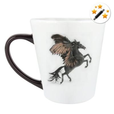 Кружка-хамелеон Лошадь с крыльями
