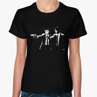 Женская футболка Supernatural (Pulp Fiction)