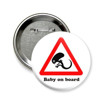 Значок 58мм Ребенок на борту